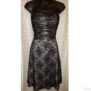 Victoria's Secret Black Lace Dress Sz 6